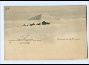 U9687/ Riesengebirge Wiesenbaude im Winter AK ca.1900