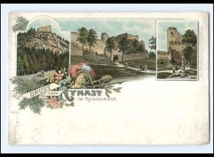 U9677/ Gruß vom Kynast im Riesengebirge Schlesien Litho AK ca.1900