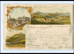 Y15408/ Gruß von der Lausche Litho AK 1898