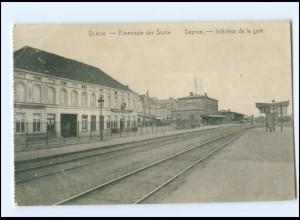 Y15479/ Deinze Deynze Bahnhof Belgien AK 1916