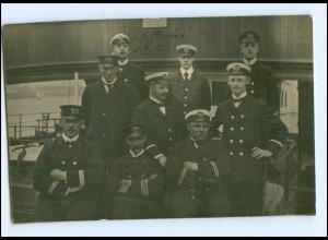 Y15527/ Mannschaft Dampfer Steamer Phoebus Foto AK 1912