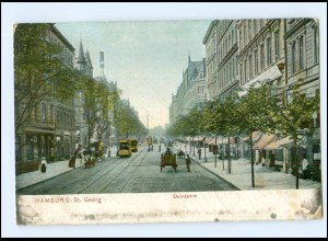Y15620/ Hamburg St. Georg Steindamm Straßenbahn AK 1908