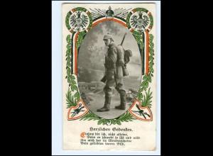 """Y15627/ 1. Weltkrieg """"Herzliches Gedenken"""" Soldat AK 1915"""