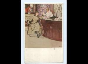 U9851/ B.Wennerberg AK In Roeckl`s Handschuhladen 1916 Roeckl Handschuhe