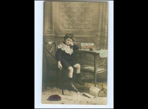 Y15638/ Kleiner Junge mit Zigarre Foto AK 1909 Rauchen
