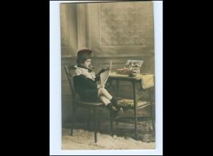 Y15639/ Kleiner Junge raucht Zigarre Foto AK 1909 Rauchen
