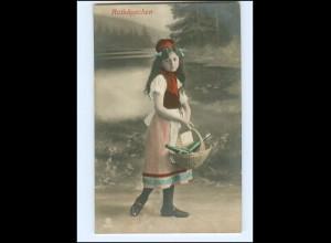 Y15640/ Rotkäppchen Mädchen Märchen Foto AK 1908