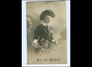 Y15650/ Junge Frau - Eine liebe Botschaft! NPG Foto AK 1913