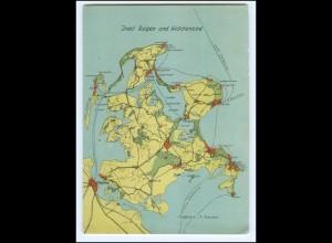 Y15659/ Rügen und Hiddensee Landkarten AK 1932