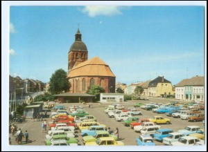 Y15688/ Ribnitz-Damgarten Autos Karl-Marx-Platz Bild und Heimat AK