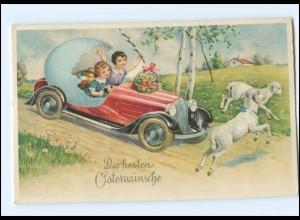 XX009170/ Ostern Kinder fahren im Autos AK ca.1930