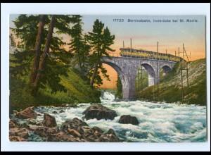 XX009187/ Berninabahn Innbrücke bei St. Moritz AK ca.1912 Graubünden