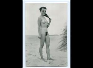 XX009216/ Erotik Frau nackt in den Dünen AK ca.1965