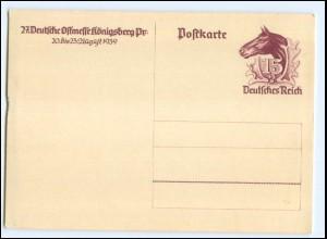 Y15751/ 27. Deutsche Ostmesse Königsberg 1939 Ganzsache AK Ostpreußen
