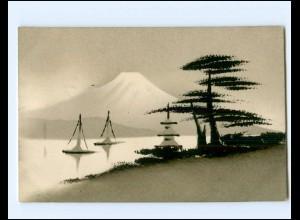 Y15810/ Japan Fuji schöne handgemalte Ak ca.1910
