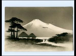 Y15811/ Japan Fuji schöne handgemalte Ak ca.1910