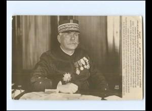 Y15813/ General Joffre mit Ehrenzeichen Frankreich Foto AK 1. Weltkrieg