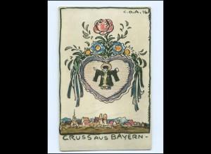 Y15782/ GRuß aus Bayern Vaterlandsdank 1916 Künstler AK