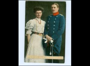 Y15794/ Deutscher Kriegerbund AK Prinz Eitel Friedrich + Frau ca.1914
