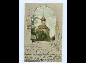U9865/ Lauenburg Alter Schloßturm Passepartout AK 1903