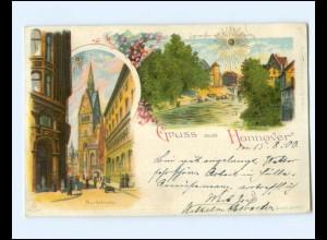 Y15799/ Gruß aus Hannover Litho Sonnenschein AK 1900