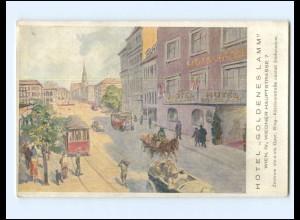 DP437/ Wien Hotel Goldenes Lamm Straßenbahn ca.1912 Österreich