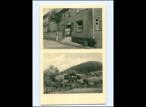 """DP439/ Sieber im Harz Dörings Gasthaus + Schlachterei """"ZUr Linde"""" AK ca.1950"""