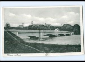 Y15829/ Dillingen Donau Brücke Ak ca.1955