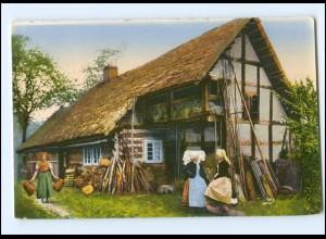 Y15916/ Spreewald Bauernhaus in Burg AK Trachten ca.1912