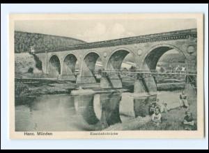 Y15918/ Hann Münden Eisenbahnbrücke AK ca.1912