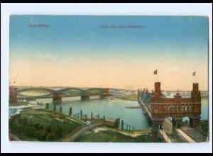 Y15921/ Hamburg Alte und neue Elbrücke AK ca.1912