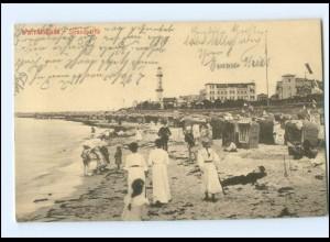 Y15923/ Warnemünde Strandpartie AK 1909