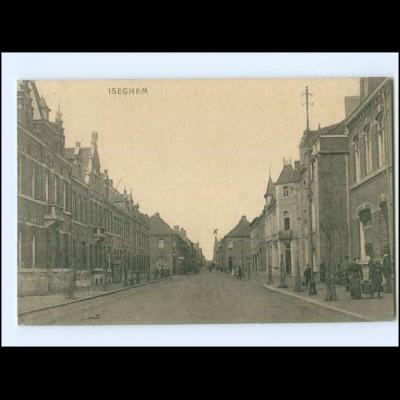 U9898/ Iseghem Belgien AK 1918