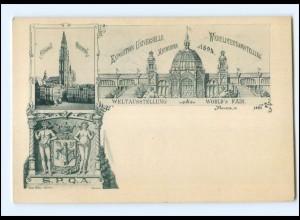 Y15930/ Weltausstellung Antwerpen 1894 Exposition Universelle AK Belgien