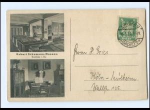 U9913-080/ Zwickau Robert Schumann-Museum AK 1924