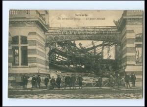 U9900/ Selzaete De vernielde brug Belgien AK 1921