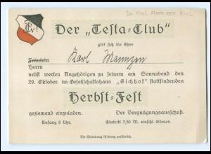 """Y15983/ Studentika Der """"Testa-Club"""" ca.1925"""