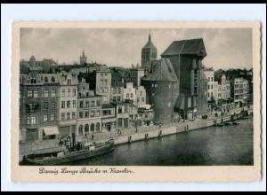 Y15944/ Danzig Lange Brücke AK ca.1938