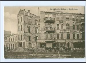 U9883/ Eydtkuhnen zerstört Ostpreußen Der Krieg im Osten AK 1915