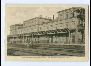 U9904/ Liebau Lettland Bahnhof AK 1917