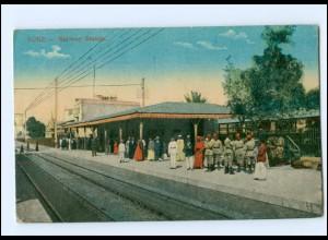 U9911/ Suez Railway Station Bahnhof AK Ägypten ca.1912