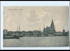 U9909-183/ Barth a. Ostsee Hafen AK 1931