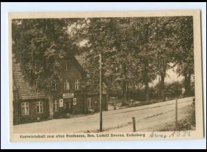 Y15982/ Escheburg Gasthaus zum alten Posthause AK 1932