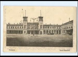 Y15964/ Bukarest Nord-Bahnhof Rumänien Ak 1917