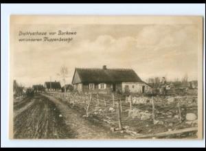 U9901/ Drahtverhaue vor Borkowo Ostpreußenhilfe Ak 1. Weltkrieg