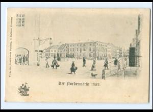 U9961/ Flensburg Der Nordermarkt 1852 Ak ca.1900