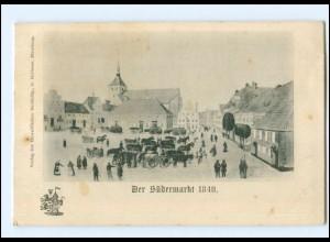 U9962/ Flensburg Der Südermarkt 1840 Ak ca.1900