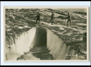 Y15867/ Eisgrotte Eigergletscher Schweiz Foto AK ca.1930