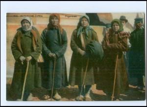 Y15861 Rußland Russische Typen Pilgerinnen AK ca.1914