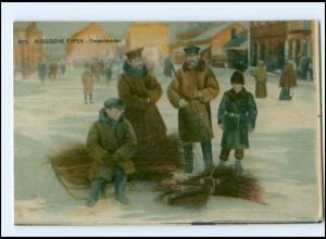 Y15862/ Rußland Russische Typen Besenhändler AK ca.1914